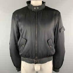 Vintage Jean Paul Gaultier Size L Black Polyamide / Elastane Bomber Jacket