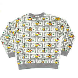 Moschino Couture - Mouse & Money Dollar Cash Print Sweatshirt - Medium M 50