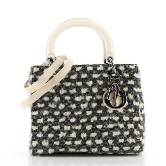 Lady Dior Bag Tweed with Resin Medium
