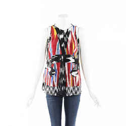 Altuzarra Printed Silk Top SZ 40