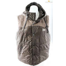 Dolce&gabbana Limited Edition Down-filled Hooded Brown Gilet