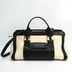 Chloe Alice Women's Leather Handbag,Shoulder Bag Black,Cream BF529910