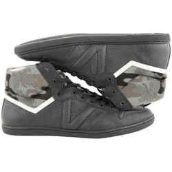 Louis Vuitton LV6 Men's 6  Camo x Black Leather Spitfire  High Top Sneaker 383lvs225