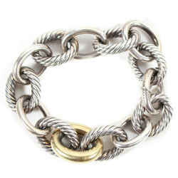 David Yurman - Chain Link Bracelet - 925 Sterling Silver & 18k Gold Link