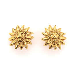 Leo Lion Sun Clip-On Earrings Metal