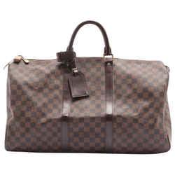 Louis Vuitton Damier Ebene Keepall 50 Duffle Bag 4lv62