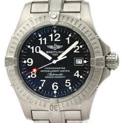 Polished BREITLING Avenger Seawolf Titanium Automatic Mens Watch E17370 BF521957