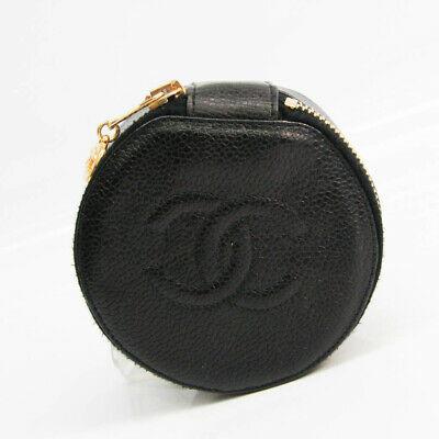 Chanel Jewelry Case Black Caviar Leather FVEL000070