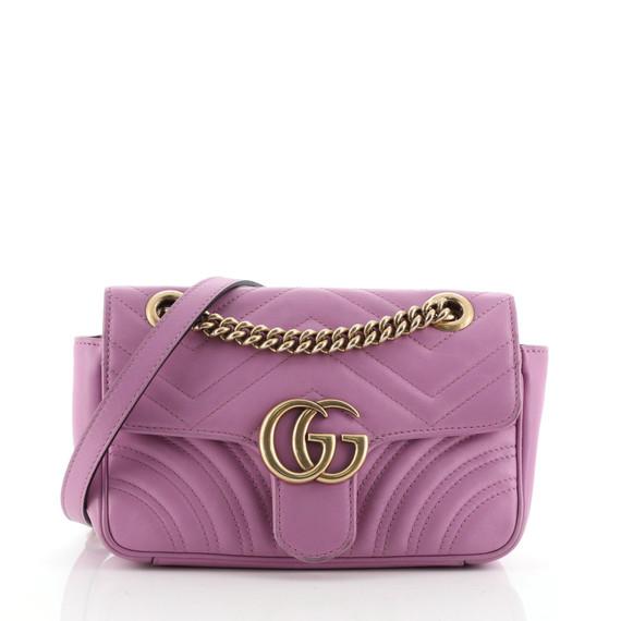 GG Marmont Flap Bag Matelasse Leather Mini