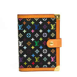 Louis Vuitton Monogram Multicolore Planner Cover Noir Agenda PM R20895 BF517206