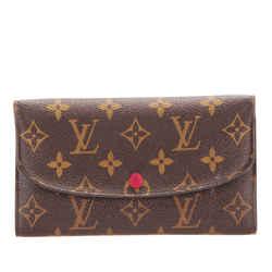 Vintage Authentic Louis Vuitton Brown Monogram Emilie Wallet France