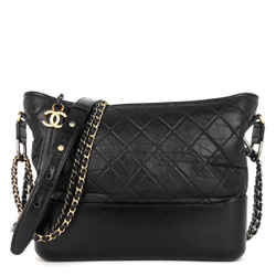 Gabrielle Calf Leather Medium Hobo Bag