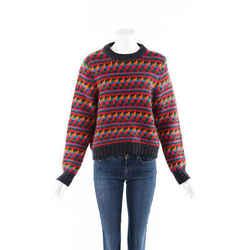 Burberry Sweater Geometric Wool Mohair Knit SZ XL