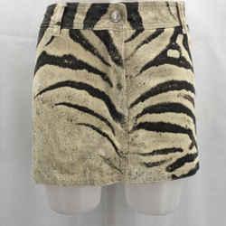 Just Cavalli Ivory Mini Skirt Medium