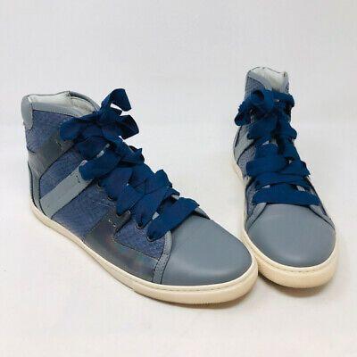 Lanvin 39 Blue Leather \u0026 Snakeskin High