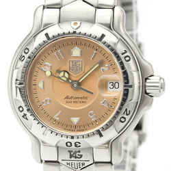 Polished TAG HEUER 6000 Chronometer Steel Automatic Ladies Watch WH2315 BF515801