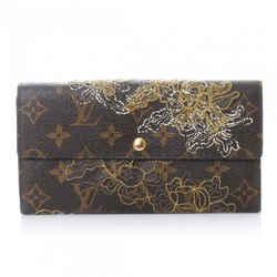 Louis Vuitton Limited Edition Monogram Canvas Gold Dentelle Sarah Wallet 8LVA1022