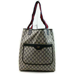 Gucci Navy Blue Supreme Monogram GG Web Large Shopping Tote Bag 862328