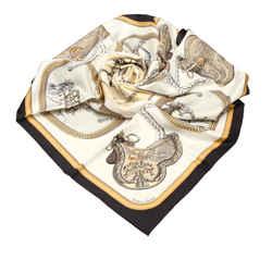 Multi Hermes Printed Silk Scarf