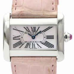 Polished CARTIER Mini Tank Divan Pink MOP Dial Ladies Watch W6301455 BF510766