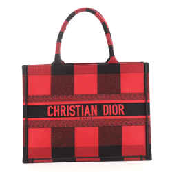 Book Tote Plaid Canvas Small