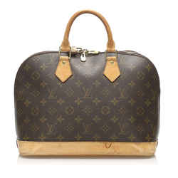 Vintage Authentic Louis Vuitton Brown Monogram Alma PM France