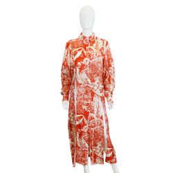 Printed Silk Long Blouse