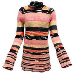 Missoni Pink Multi Stripe Bell Sleeve Sweater Dress