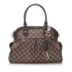 Brown Louis Vuitton Damier Ebene Trevi PM Bag