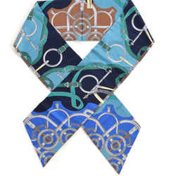 NEW Hermes 100% Silk Eperon D'Or Remix Maxi Twilly Scarf Marine Turquoise Vert