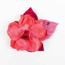 Chanel Camellia Flower Pink Silk Brooch