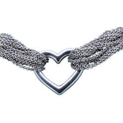 Tiffany & Co. TEN ROW CHAIN HEART TOGGLE BRACELET