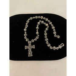 Chrome Hearts Sterling Silver Love Knot Cross Snake Necklace 2400-370-3621