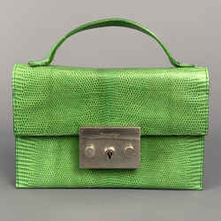 CALVIN KLEIN COLLECTION Green Lizard Leather Mini Bags