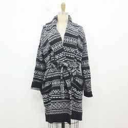 S - Ralph Lauren $225 Soft Fair Isle Belted Open Front Knit Wrap Sweater 0504AK