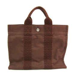 Hermes Her Line PM Polyamide,Polyester Tote Bag Brown BF519993
