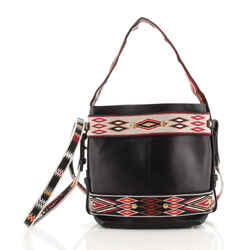 Diorodeo Hobo Calfskin with Embroidered Detail Small
