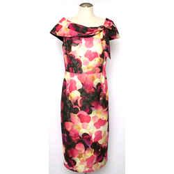 St. John Multi Pink Brocade Floral Dress
