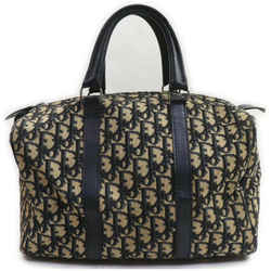 Christian Dior Navy Blue Monogam Trotter Boston Duffle Bag 862000