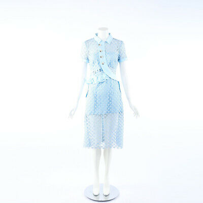 Lavender /& White with Daisy Buttons Dress