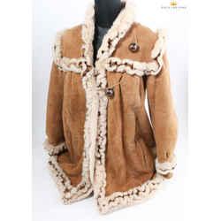 Fendi Woman's Suede Fur Coat By Neiman Marcus