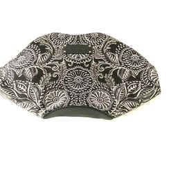 $1200 New Nwt Alexander Mcqueen Floral Black White Manta Clutch Purse Bag