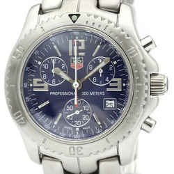 Polished TAGHEUER Link Chronograph Steel Quartz Mens Watch CT1110 BF518501