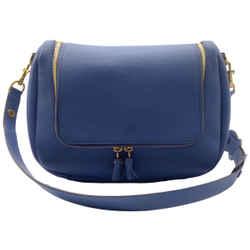 Anya Hindmarch Vere Soft Satchel Blue Leather Shoulder Bag