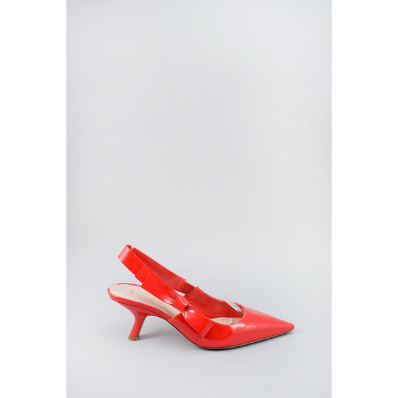 Christian Dior Red Patent Slingbacks Size 37