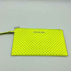 Michael Kors Yellow Perforated Pouch