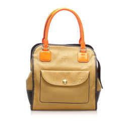 Camel Loewe Alta Leather Tote Bag