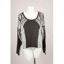 Sass & Bide Black & White Printed Long Sleeve T-Shirt
