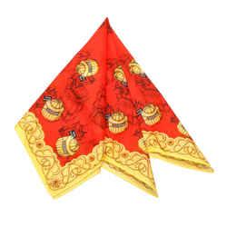 Red Balenciaga Printed Silk Scarf