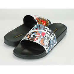 Dolce & Gabbana Graffiti-Print Pool Slide Sandal
